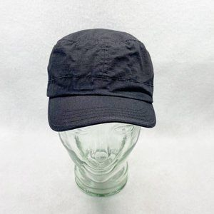 Black Cotton Army Cap OS Newsboy Cap